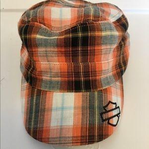 Ladies Harley Davidson Orange Stripe Hat-One Size